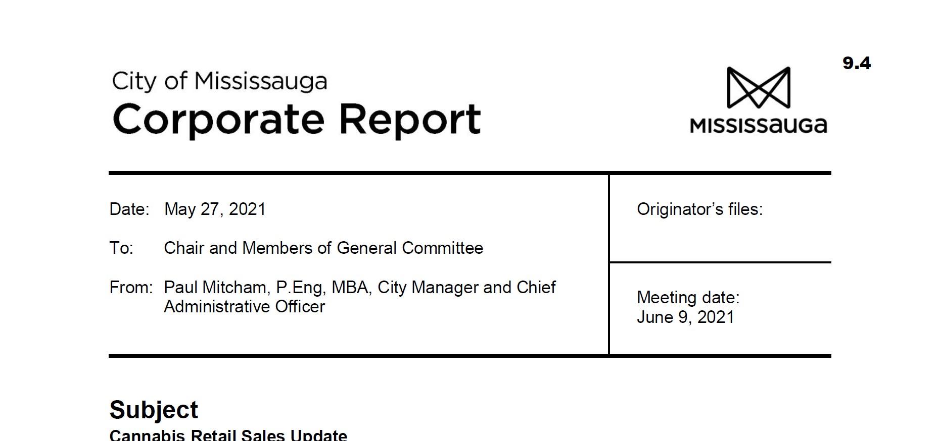 Cannabis Blog - Mississauga Corporate Report