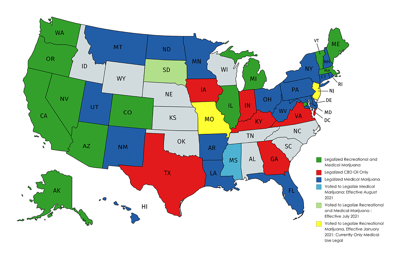 States Where Legal